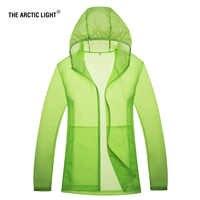 Arktycznego światła 2018 nowych mężczyzna kobiet szybkie pranie piesze wycieczki kurtki na zewnątrz sport skóry warstwa kurzu wodoodporna ochrona UV dla camping