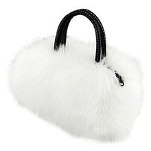 Lady Girl Pretty Cute Lovely Plush Fur Hairy Handbag Shoulder Bag