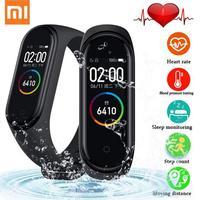 Оригинал  новинка 2019  Xiaomi Mi Band 4  смарт-браслет Miband 4  пульсометр  фитнес  135 мАч  цветной экран  Bluetooth 5  китайская версия