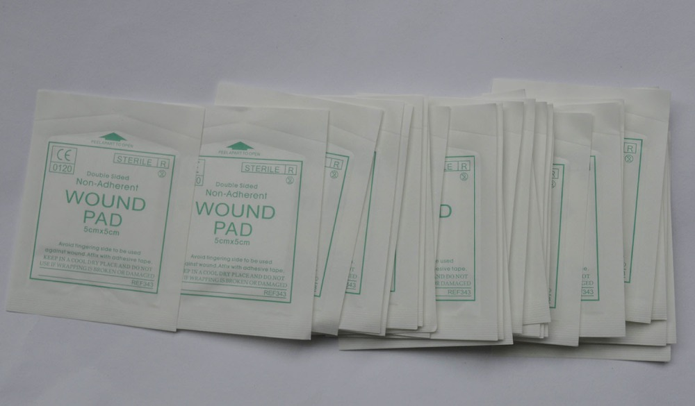 50pcs/Lot Sterile Wound Pad For Emergency Kit Double Sided Non-adherent Non-Woven First Aid Kit Supplies Medical Wholesale
