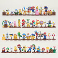 13pcs/set Super Mario Bros figure yoshi toad mario pvc action figure set 4styles