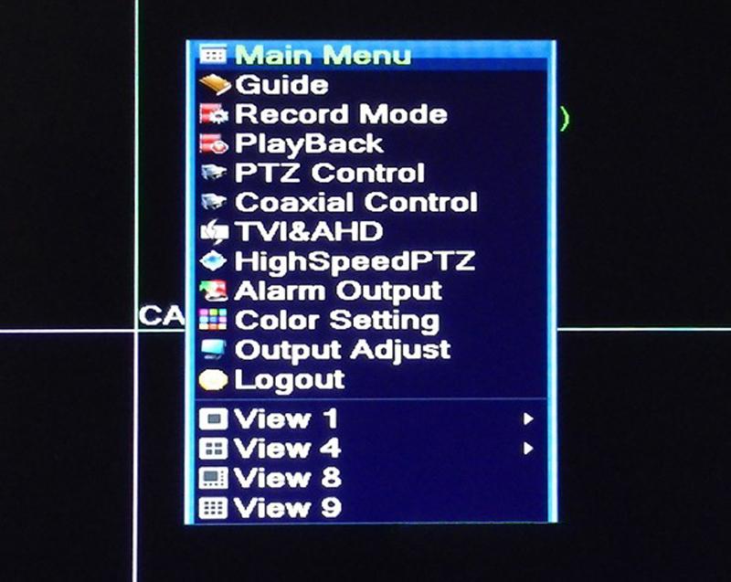 1080n 25fps 5 in  1 8ch 8 channel hybrid ahd tvi cvi nvr cctv dvr  menu picture 01