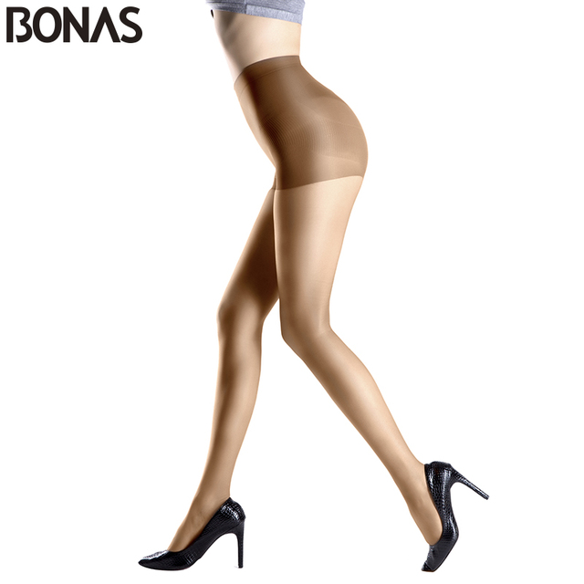 42da744da89 BONAS New Fashion Solid Color Sexy Nylon Stretchy Pantyhose Women s Fashion  Cheap Tights Lady Spandex Resistant Black Stocking