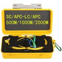 Free shipping SC/APC LC/APC OTDR Dead Zone Eliminator,Fiber Rings ,Fiber Optic OTDR Launch Cable Box 1km SM 1310/1550nm