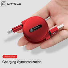 CAFELE Type C Charging Cable for Huawei Honor 9 Xiaomi Mi 6 5S Samsung S8 Oneplus 5 Mini Retractable USB Phone