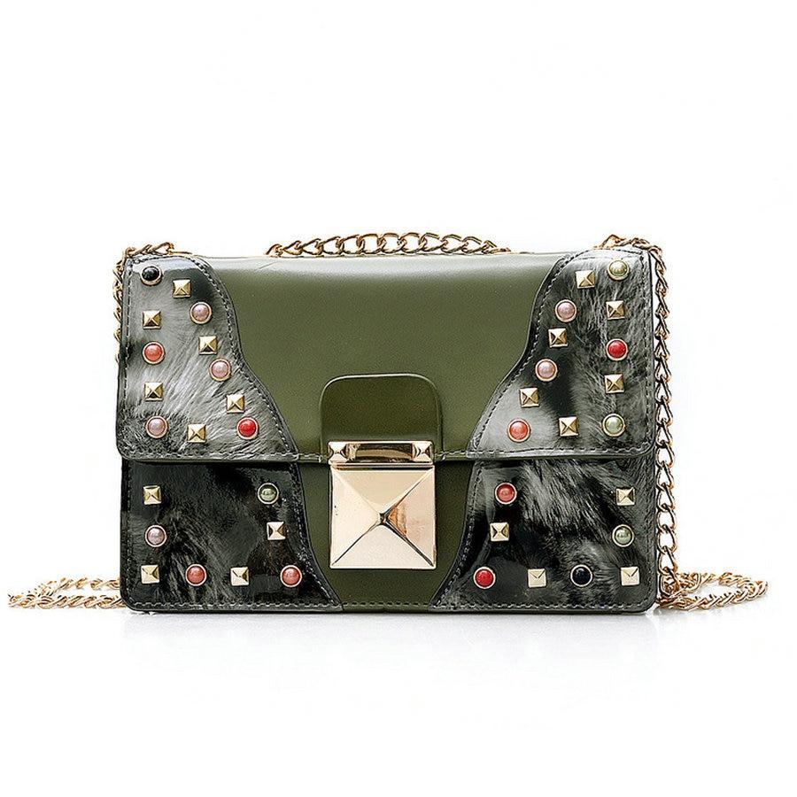 Women Crossbody Bags Rivet Vintage Shoulder Bag Designer Famous Brand Handbag Ladies Messenger Bags