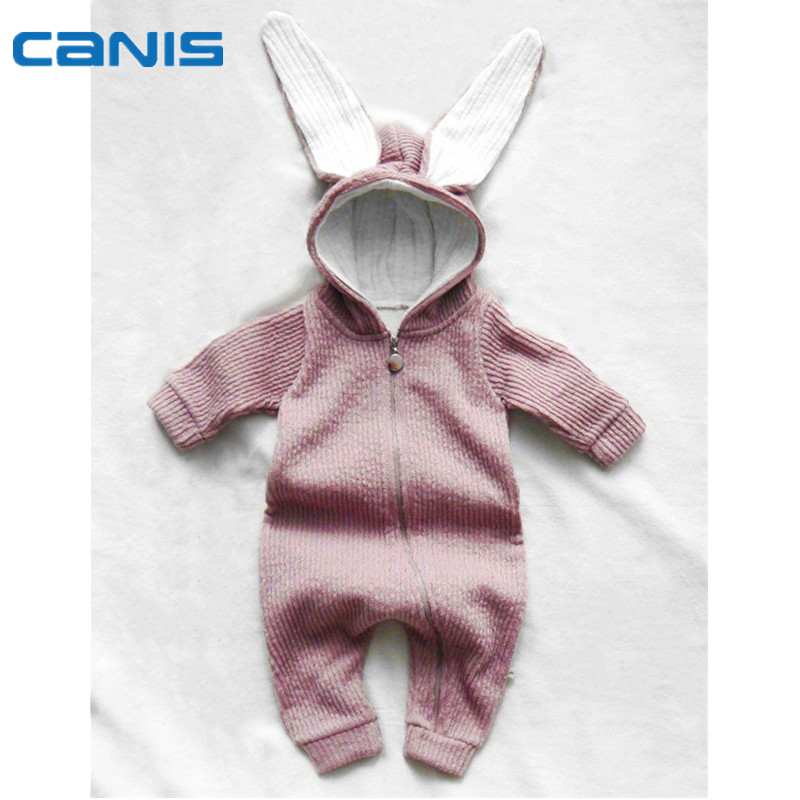 2017 Brand New Newborn Toddler Baby Infant Boy Girl Romper Hooded Jumpsuit Long Sleeve Autumn Outfits Cute Bunny Clothes newborn infant baby boy girl clothing cute hooded clothes romper long sleeve striped jumpsuit baby boys outfit