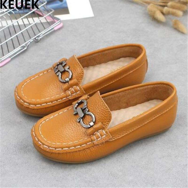 New Spring/Autumn Breathable Casual Children British style Baby Toddler Single Shoes Boys Genuine Leather Shoes Kids Flats 04