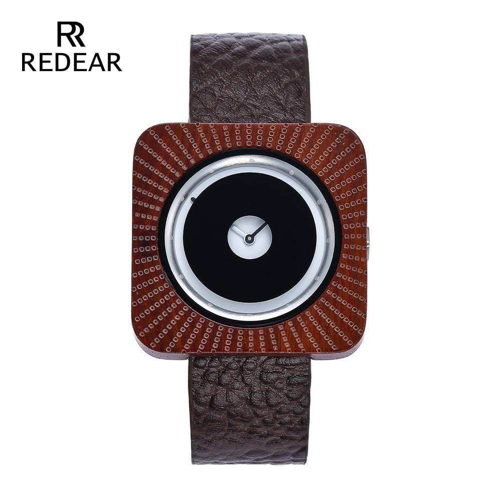 REDEAR Timepieces Bamboo Watch för Män Kvinnor Trä Quartz Klockor - Damklockor - Foto 2