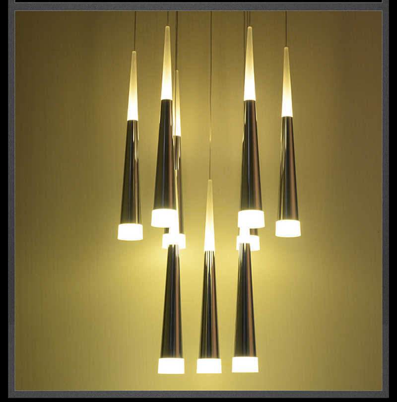 Suspended Hanging Lamps Living Room Lighting Decorative Lights Long Pendant Lamp For Staircase Light High