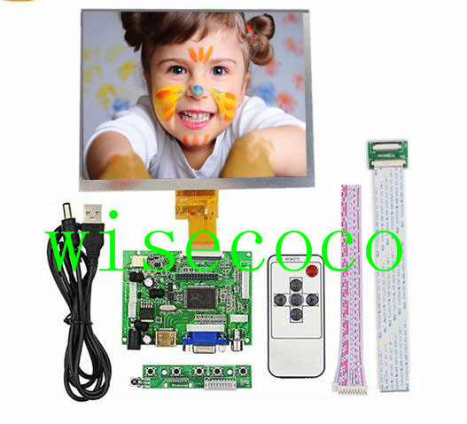 "40 pin 1024x768 8 ""Pantalla 8 pulgadas Lcd HJ080IA-01E HE080IA-01D LCD Placa de controlador de cable clave USB HDMI VGA"