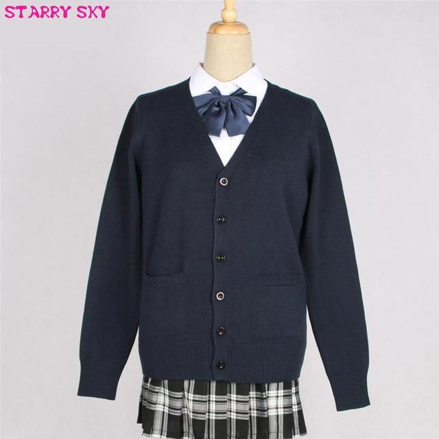 d664cbacd9d New Arrival Jk School Uniforms Cardigans Sweater Tops Japanese Students  Uniform Cute Girls High Sweaters Long Sleeve XXL