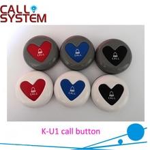 Новейшая беспроводная Кнопка передатчика K-U1 для обслуживания в ресторанном кафе-отеле