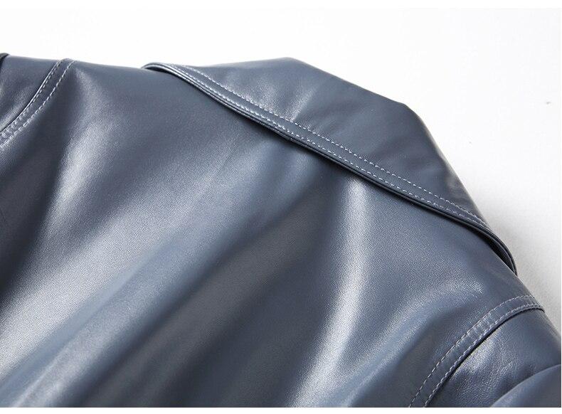 US $156.46 50% OFF Kurtka z prawdziwej skóry kurtka jesienno jesienna kobiet prawdziwa skóra jagnięca żakiet kobiet koreański motocykl kurtka HQ18