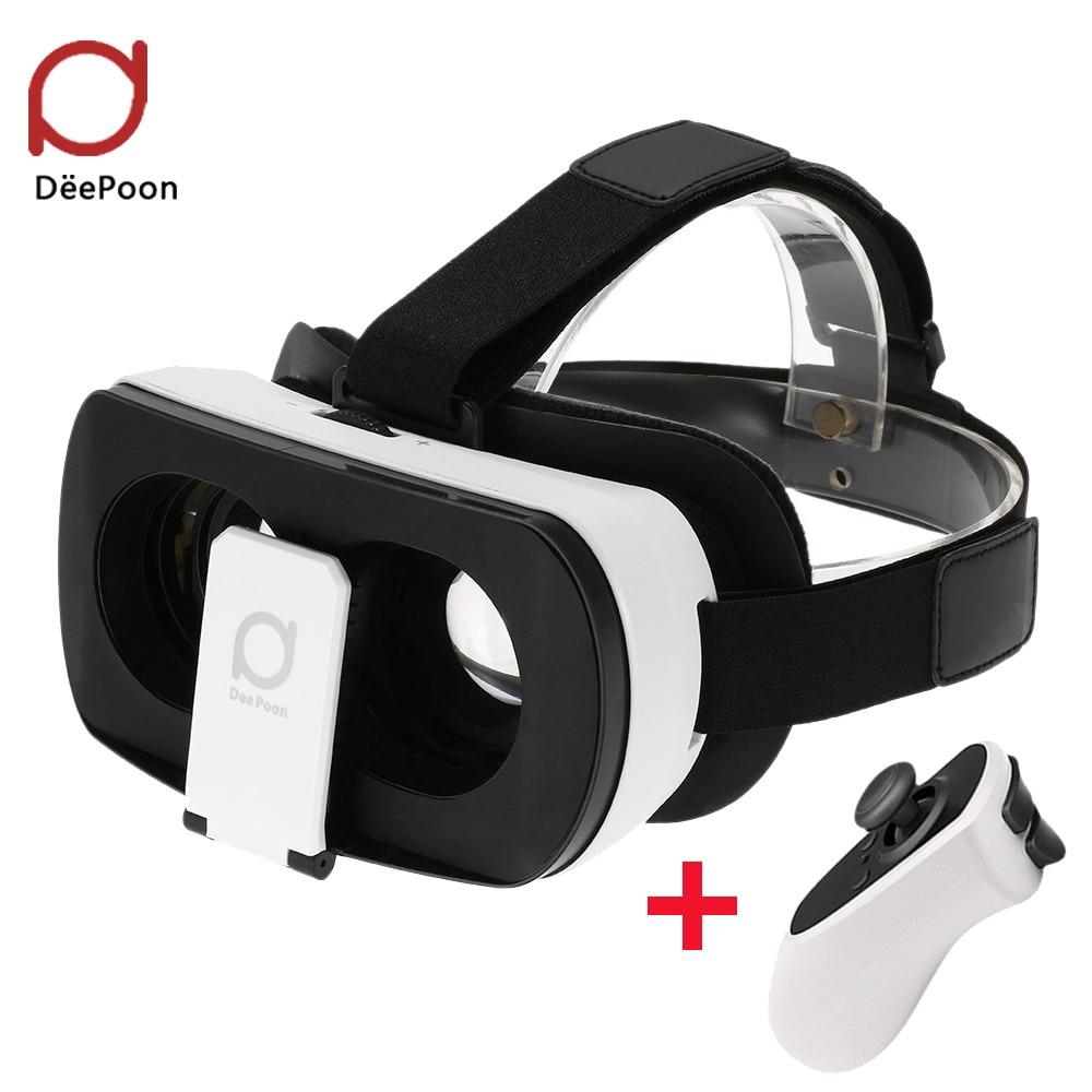 F17761/62 3D <font><b>VR</b></font> <font><b>Glasses</b></font> <font><b>DeePoon</b></font> V3 Real <font><b>Virtual</b></font> <font><b>Reality</b></font> <font><b>Headset</b></font> Helmet 3D <font><b>VR</b></font> Gaming Video Bluetooth Gamepad for Android iOS APP