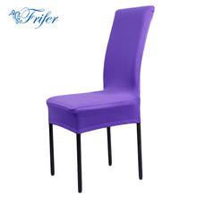 1pcs 11 Solid Colors Polyester Spandex Dining Chair Covers Wedding Christmas Party Chair Cover Brown Dining Chair Seat Covers
