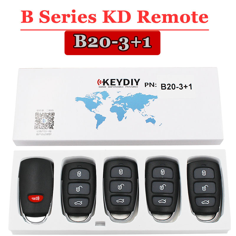 Free shipping 5 pcs lot B20 3 1 Button KD900 Remote Key for URG200 KD900 KD900