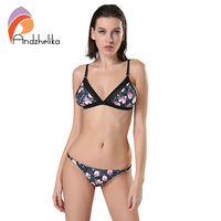Andzhelika2017 Sexy Micro Bikinis Women Swimsuit Swimwear Print Brazilian Thong Bikini Set Beach Bathing Suits Swim