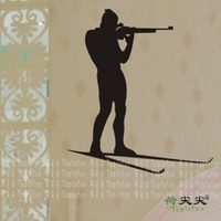 Wall Stickers New Arrival Skiing Decorative Painting
