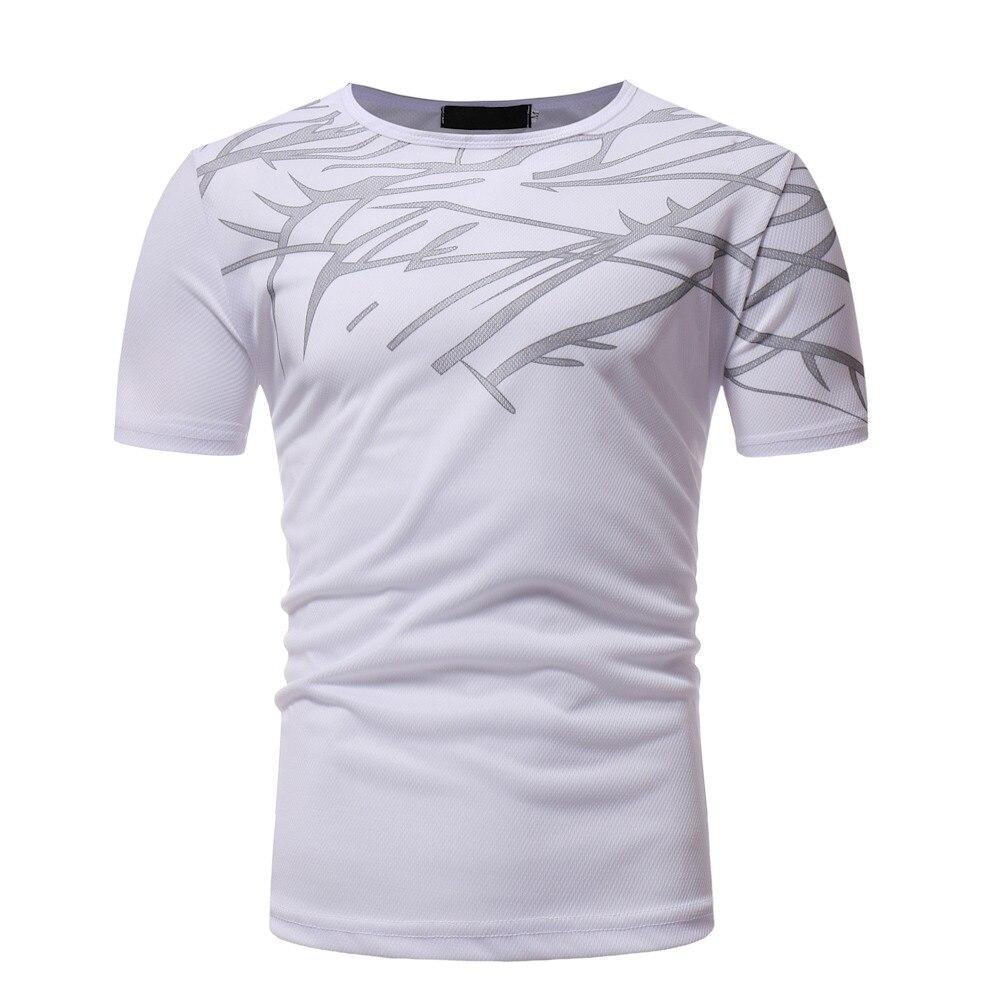 Nueva venta caliente de cuello redondo Camiseta de estilo Casual de verano de algodón de manga corta de Color hombre de dibujos animados