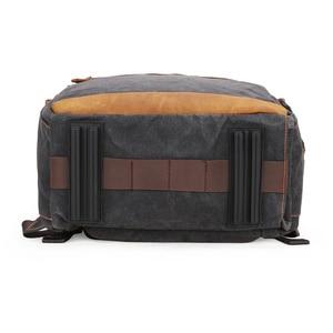 Image 5 - Waterproof Batik Canvas+Leather Shoulders Protect Bag Professional Photographic Camera Backpack for SLR Camera Lens Tripod Flash