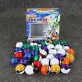 Pokébola Série 1 conjunto = 36 pcs Pokeballs + 36 Figura Brinquedos + 72 pcs Cartões de Picar Puxão Chilrdren Presentes do Dia Para Os Presentes Dos Meninos