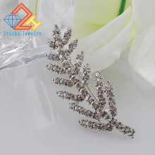 (1 pieces / lot) Fashion Hot Selling Fahion Jewelry Elegant  Full Rhinestone Leaf Brooch Pin Crystal Brooches