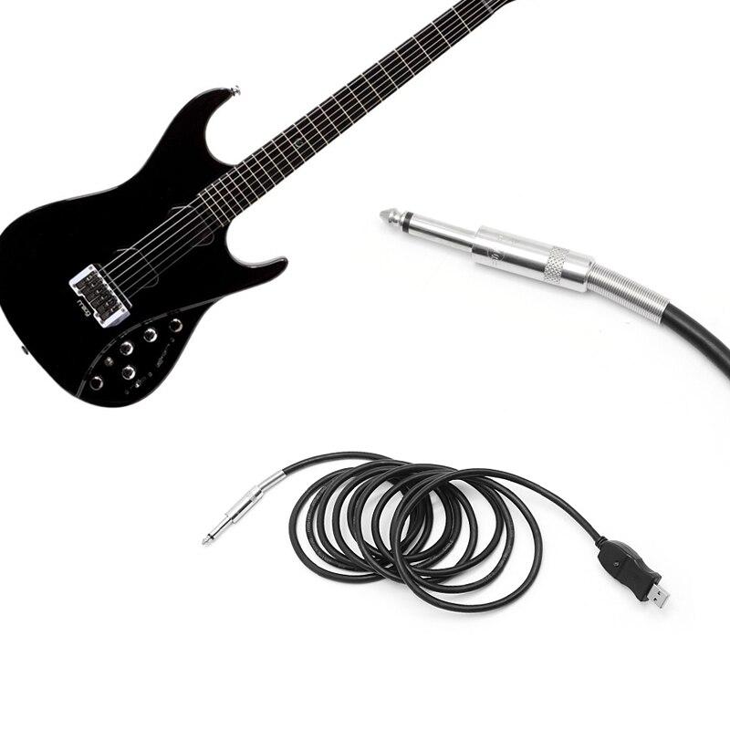 1 Pc 10 Füße Gitarre Bass 6,3mm Jack Zu Usb Link Verbindung Kabel Adapter Pc Aufnahme Schmerzen Haben