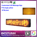 p10 led programmable led message sign outdoor single yellow 16*96 pixel led moving sign with p10 led