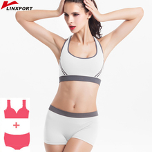 New Wholesale Women Seamless Sports Bra Set Push Up Padded R