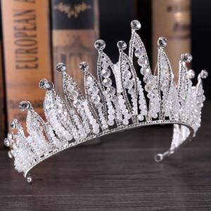 Image 5 - Fashion Luxury Silver Color Tiara Crown Bridal Hairband Rhinestone Crystal Headband Women Hair Jewelry Wedding Hair Accessories