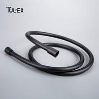 TULEX Black PVC Shower Hose Plumbing Hose 1.5m For Bathroom Hand Shower Hose Accessory Pipes Connector High Quality Shower Pipes