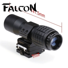 Free Shipping 20mm Rail Tactical 4x Magnifier Quick Flip Scope w/ Flip To Side Mount Fit For Holographic Sight.