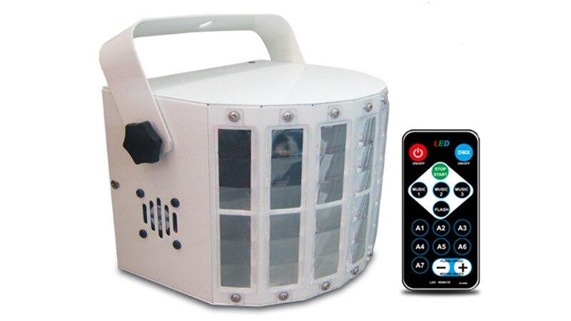 DJ Mini DMX LED RGBW effet de scène faisceau lumière contrôle sonore contrôle de la musique scintillement lampe de scène