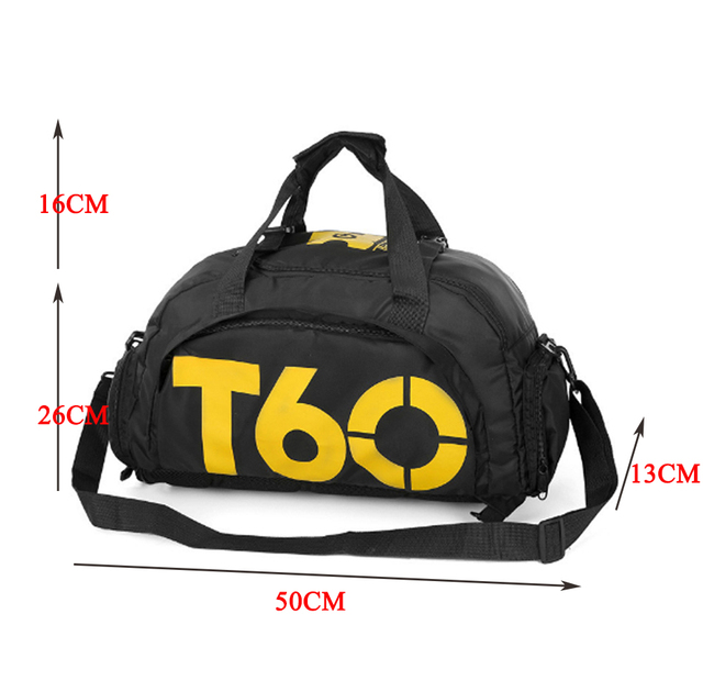 New Men Sport Gym Bag Lady Women Fitness Travel Handbag Outdoor Backpack with Separate Space For Shoes sac de sport