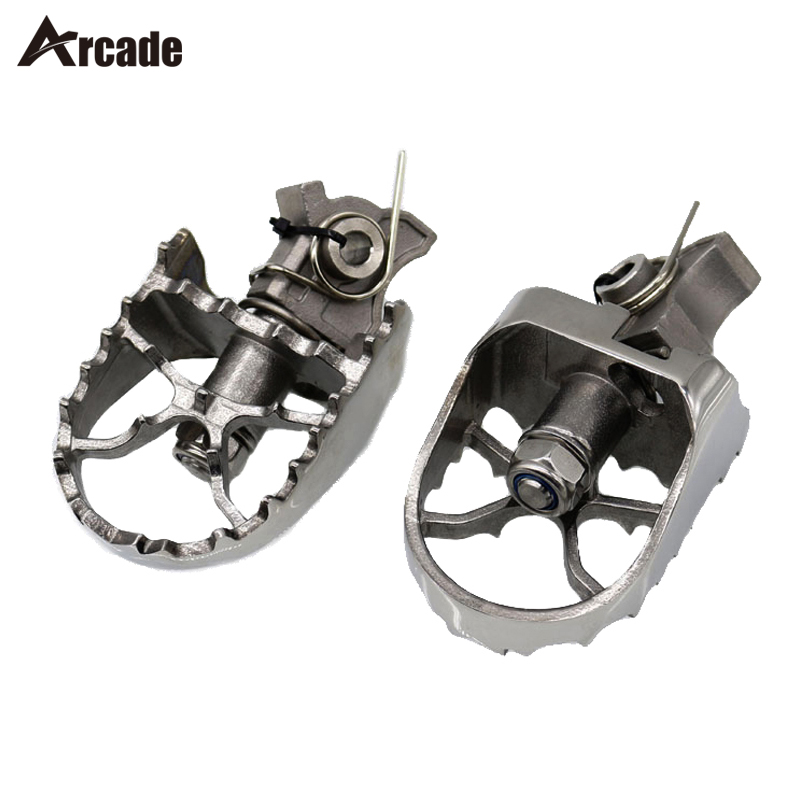 Arcade Wide Motorcycle Foot Pegs Rest Pedals For BMW R1200GS 04-12 F650GS Twin 2008-2013 F800GS G650GS large side stand foot enlarger kit fit for bmw g650gs 2009 2013