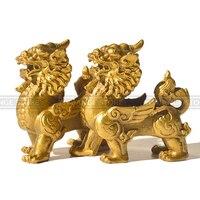 Fengshui Chinese Dragon Chilin Dragon Unicorn Kylin Pi Xiu Kirin Statue Couple Halloween Home Decoration