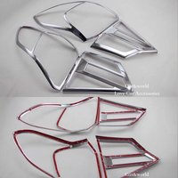 For Suzuki Vitara 2015 2016 Rear lights Cover Tail Lamp Decoration Trim 2017 ABS Chrome Stickers Car styling Accessories