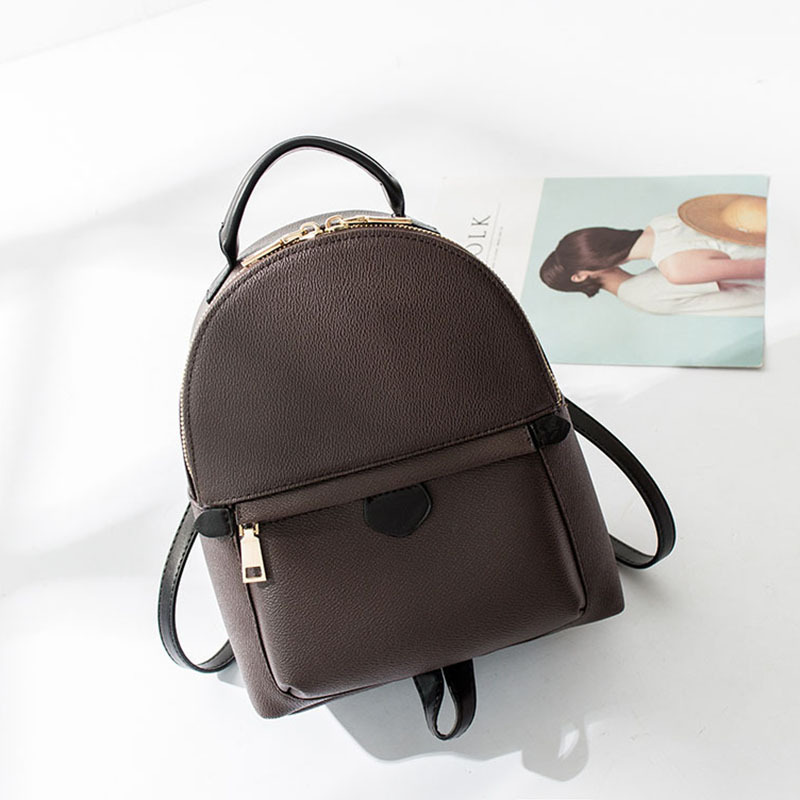 Luxury Brand Monogram Mini Backpack Bag Women Classic Fashion Designer Real Leather and Canvas Cute Small Backpack Free Shipping women s classic backpack