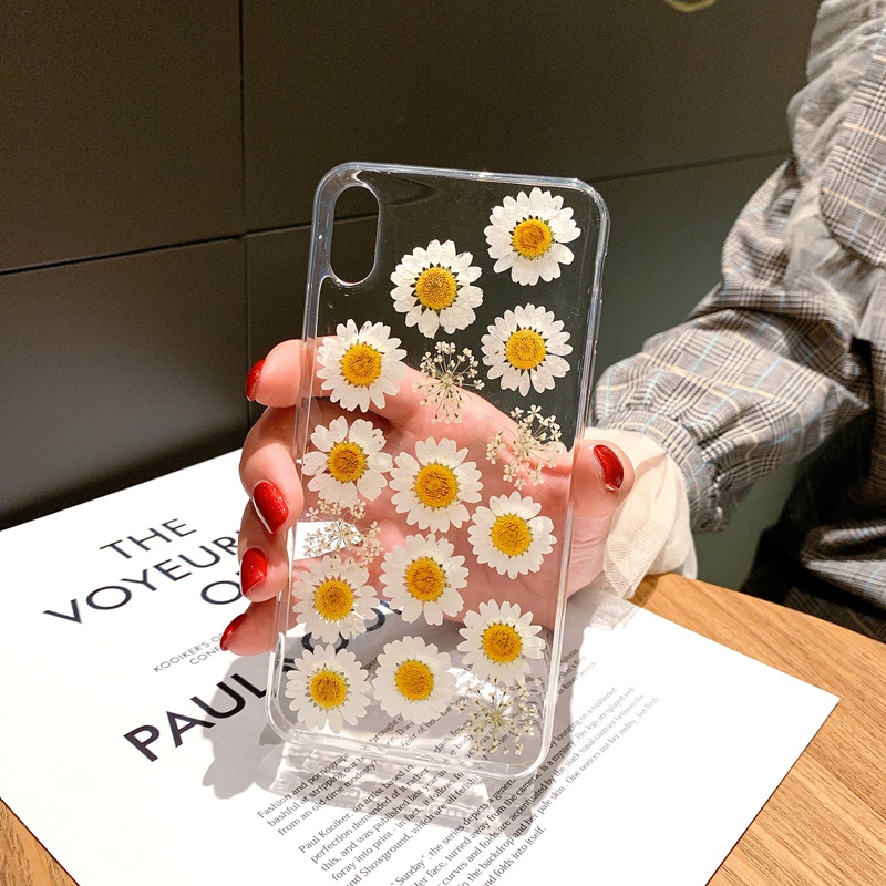 Real Flowers Dried FloralTransparent Soft TPU Cover For Coque iPhone X XR XS Max Phone Case For iphone 6 6S 7 8 Plus Cover Coque (3)