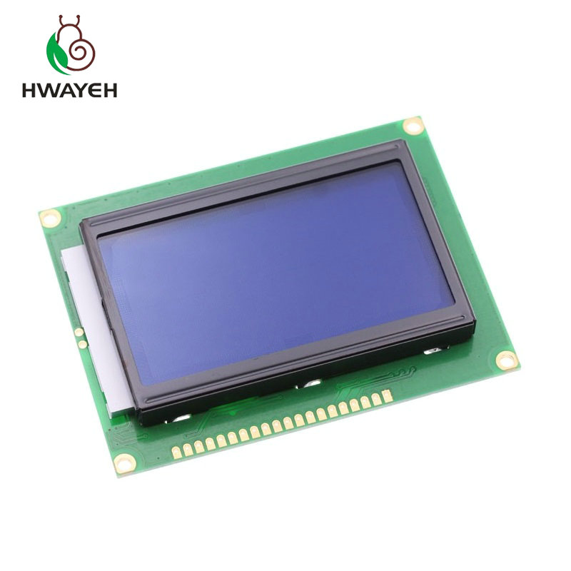 1PCS 1PX128*64 DOTS LCD module 5V blue screen 12864 LCD with backlight ST7920 Parallel port LCD12864 for arduino1PCS 1PX128*64 DOTS LCD module 5V blue screen 12864 LCD with backlight ST7920 Parallel port LCD12864 for arduino