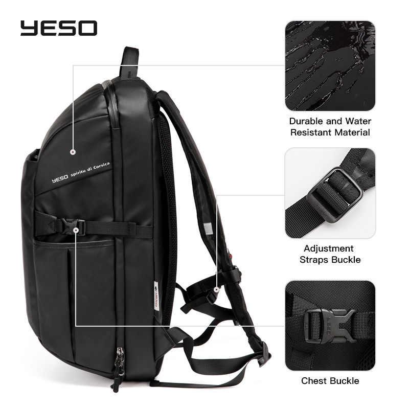 YESO мужской водонепроницаемый рюкзак для ноутбука 15,6 дюймов 3 в 1 повседневный рюкзак унисекс Оксфорд бизнес Многофункциональный компьютерный рюкзак