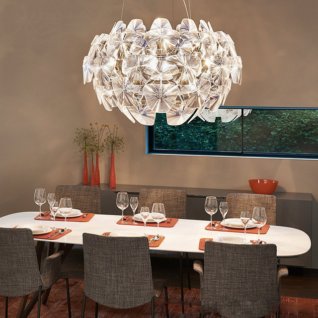 Livewin Acrylic Pendant Lights Dining Room Cord Hanging Modern Kitchen Fixtures Pendant Lamp Restaurant lighting Luminaires