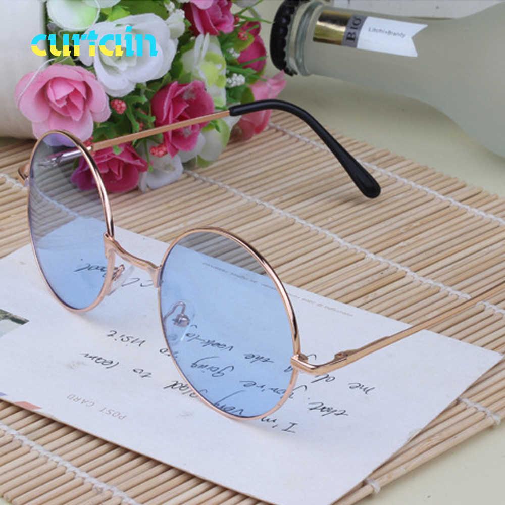 Винтажные женские солнцезащитные очки, ретро круглые очки, красные линзы, металлическая оправа, очки с покрытием, очки gafas de sol mujer
