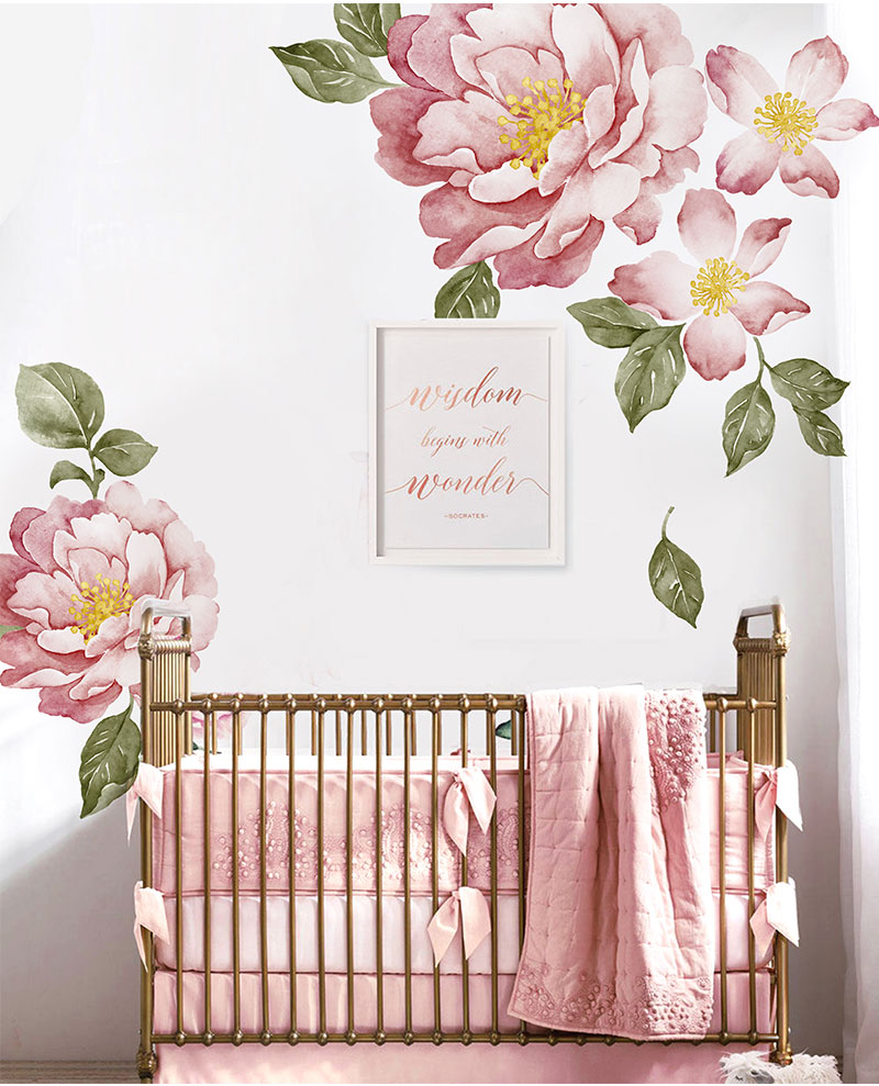 Peony Flowers Wall Sticker 23