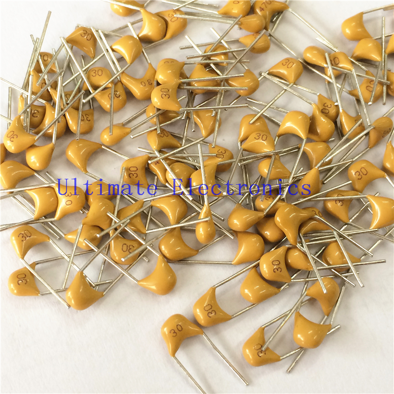 100pcs/lot  Multilayer Ceramic Capacitor 300 50V 30pF 300k P=5.08mm