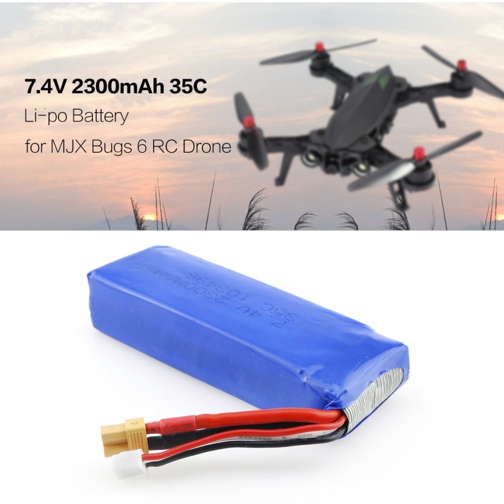 hot!Upgraded <font><b>7.4V</b></font> <font><b>2300mAh</b></font> 2S 35C Li-po Rechargeable <font><b>Battery</b></font> with XT30 Plug Spare Parts Accessory for MJX Bugs 3/6 B3/B6 RC Drone image