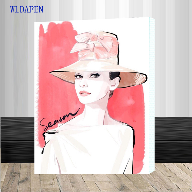 Audrey Hepburn Art Painting By Numbers DIY HandPainted Modern Wall ...