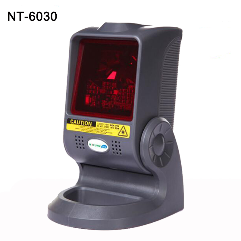 20 Lines Desktop Omini-directional Laser Barcode Scanner all 1D bar code flatbed scanner interface with USB/PS2/RS232