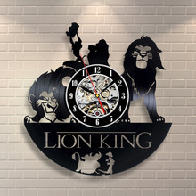 The Lion font b wall b font font b clock b font made of vinyl record